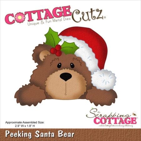 CottageCutz – Dies - Peeking Santa Bear