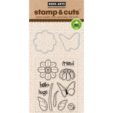 Hero Arts – Stamp & Cuts – Butterfly & Flower