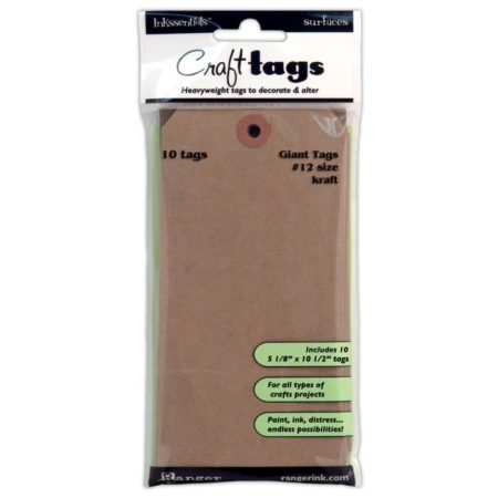 RANGER - Inkssentials Kraft Craft Giant Tags #12