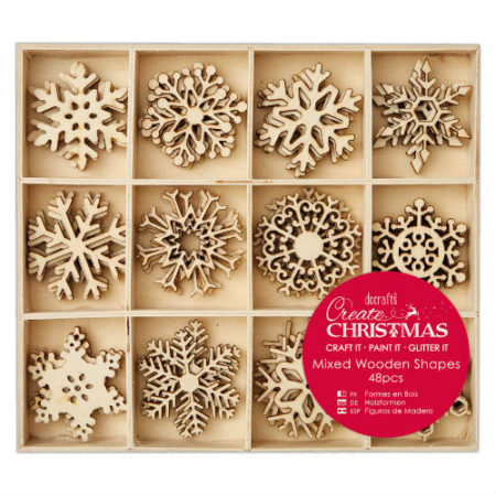Papermania Træpynt – Create Chrismas - Large Mixed Wooden