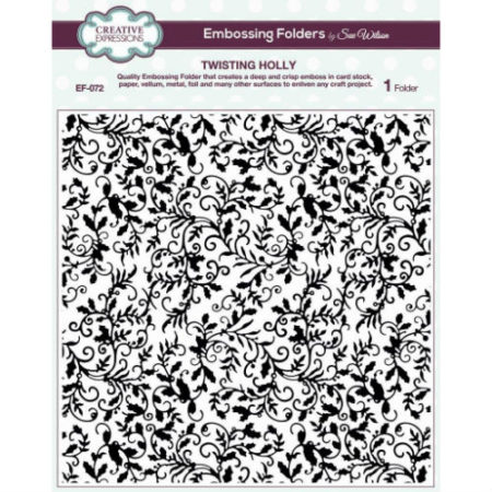 Creative Expressions - Embossingfolder - Twisting Holly