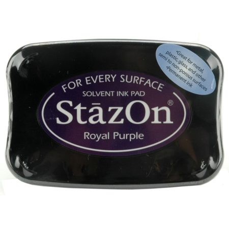 StazOn Solvent Ink Pad - Royal Purple
