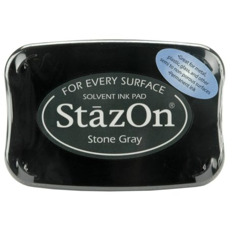 StazOn Solvent Ink Pad - Stone Gray
