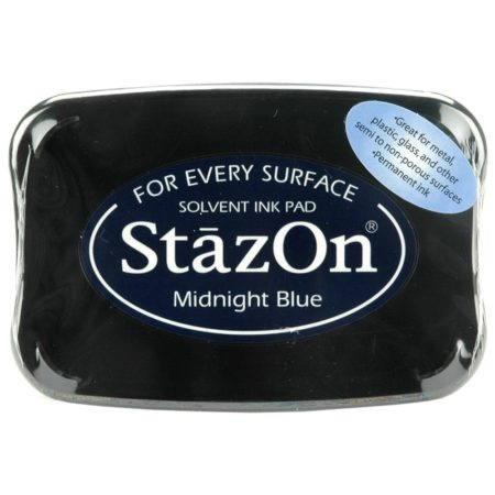 StazOn Solvent Ink Pad - Midnight Blue