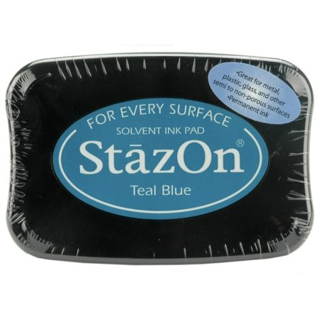 StazOn Solvent Ink Pad - Teal Blue