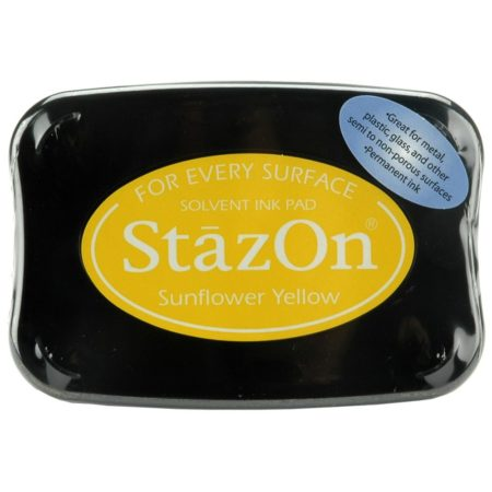 StazOn Solvent Ink Pad - Sunflower Yellow