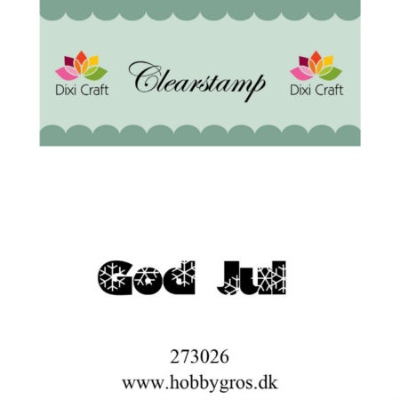 Dixi Craft - Clearstamp - God Jul