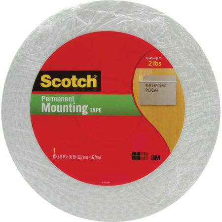 Scotch - Permanet Mounting Tape - Double Sided Foam Tape