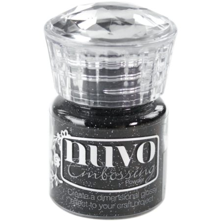 Nuvo Embossing Powder - Glitter Noir