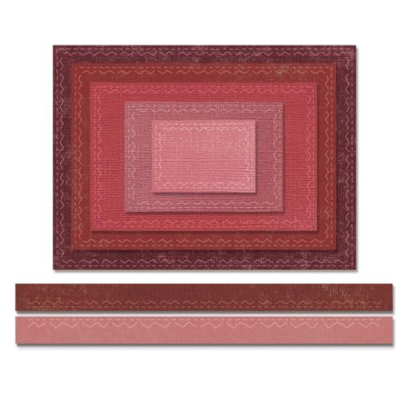 Sizzix - Thinlits Dies - Stitched Rectangles