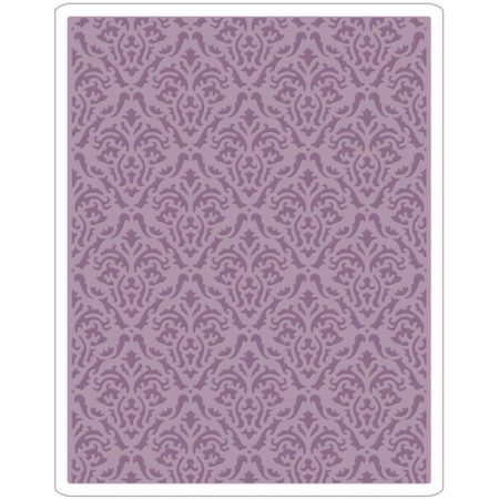 Sizzix Texture Fades A2 Embossing Folder - Damask