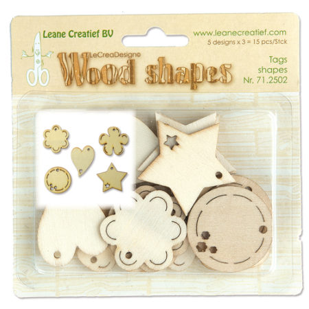 LEANE WOOD SHAPES - Tag Shapes