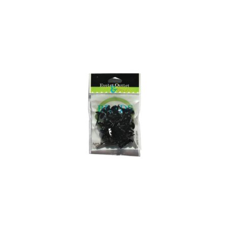 EYELET OUTLET - Black 8mm