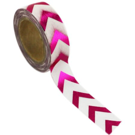 Love My Tapes Foil Washi Tape  - Fuchsia Chevron