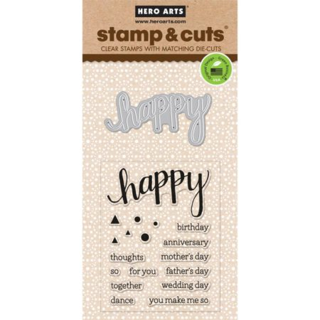 Hero Arts – Stamp & Cuts – Happy