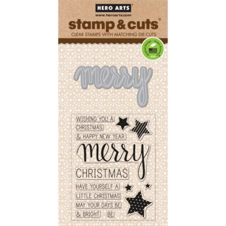 Hero Arts – Stamp & Cuts – Merry