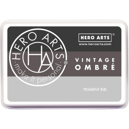 Hero Arts Ombre Ink Pad - Ombre Vintage Metallic Steel
