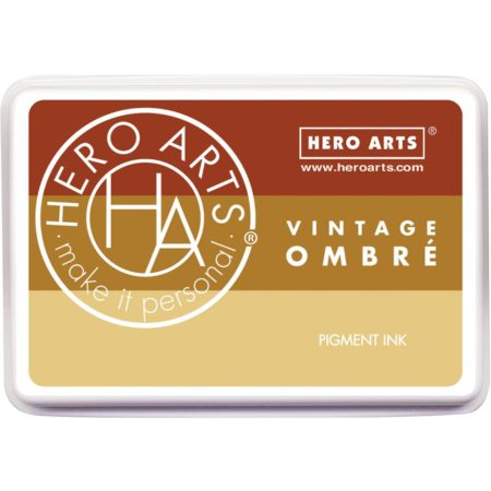 Hero Arts Ombre Ink Pad - Ombre Vintage Metallic Rust