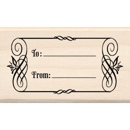 Inkadinkado Mounted Rubber Stamp - To & From Tag