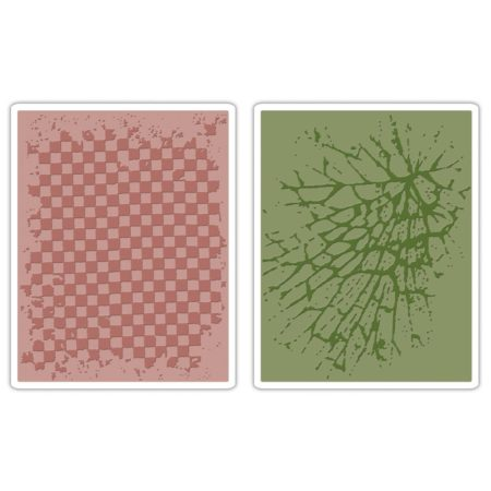 Sizzix - Tim Holtz - Checkerboard & Cracked
