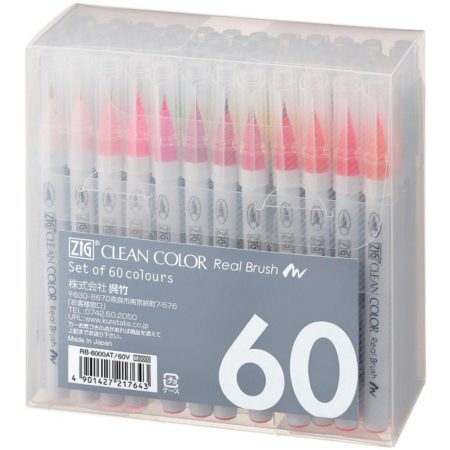 Zig Clean Color Real Brush Markers 60 stk