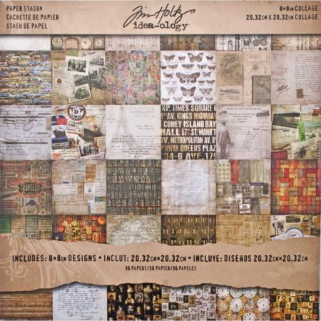 Tim Holtz - Idea-Ology Paper - Collage