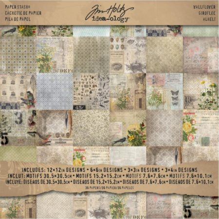 Tim Holtz - Idea-Ology Paper Stash - Wallflower - TH93110