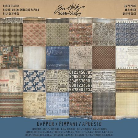 Tim Holtz - Idea-Ology Paper Stash - Dapper