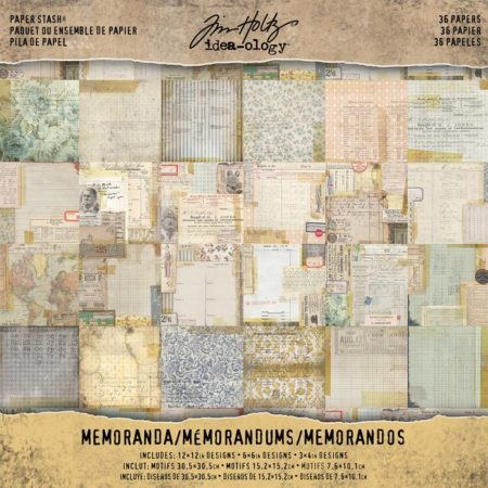 Tim Holtz - Idea-Ology Paper Stash - Memoranda - TH93550