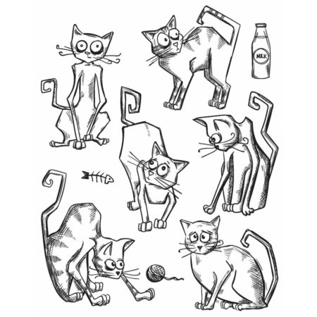 Tim Holtz - Cling Stamps - Crazy Cats