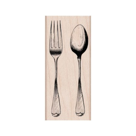 Hero Arts Mounted Rubber Stamp - Fork & Spoon