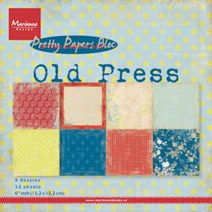Marianne Design - Papirblok - Old Press
