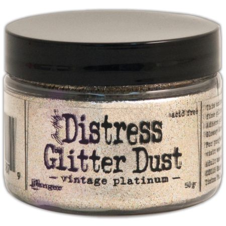 Tim Holtz - Distress Glitter Dust - Vintage Platinum