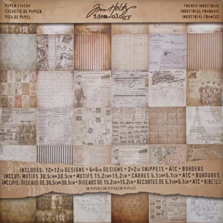 Tim Holtz – Idea-Ology Paper Stash – French Industrial