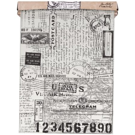 Tim Holtz Idea - Ology Tissue Wrap - Postale