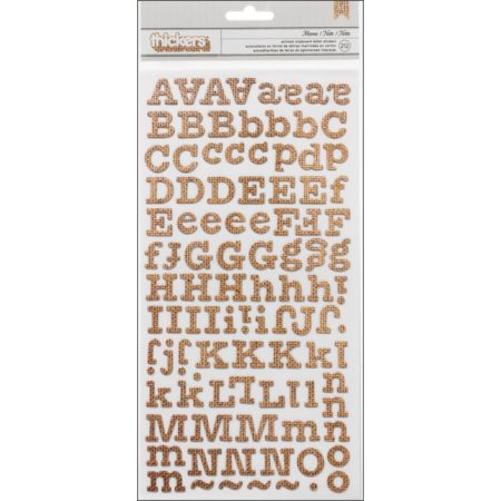 Thickers Chipboard Stickers 2/Pkg - Memo - Burlap - 53350