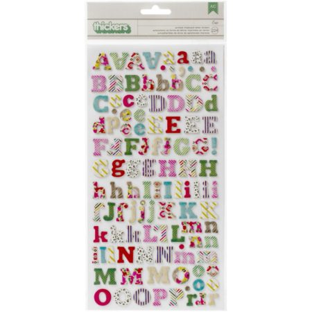 """On Trend Chipboard Thickers Alphabet Stickers 5.5""""X11"""" - Eric/Multi Print - 683050"""