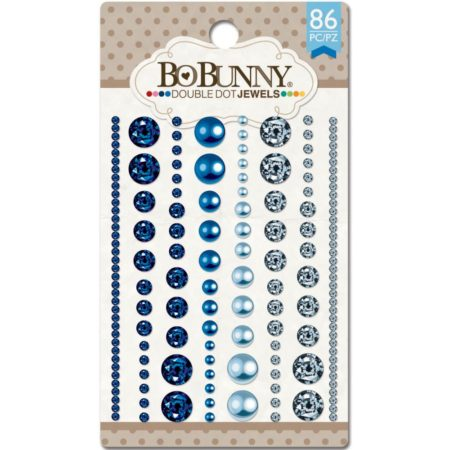 Bo Bunny - Double Dot Jewels - Blue Hues 86/Pkg - 11707521