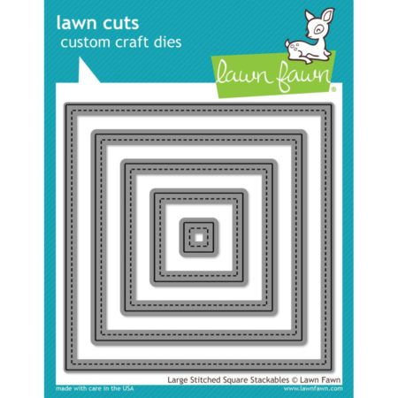 "Lawn Favn - Large Stitched Squares, .5"" To 4.5"" - LF837"