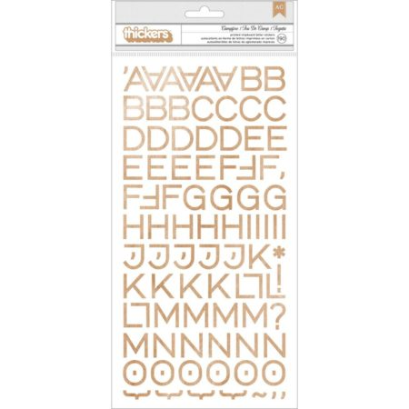 "Journey Thickers Alpha Stickers 5.5""X11"" 2/Pkg - Woodgrain Chipboard - 683749"