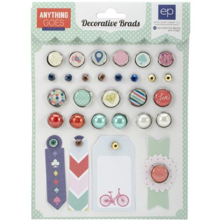Echo Park Paper Anything Goes Decorative Brads - AG74020