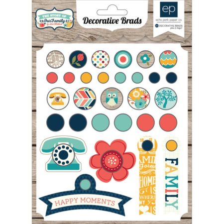 Echo Park Paper The Story Of Our Family Decorative Brads - TSY92020