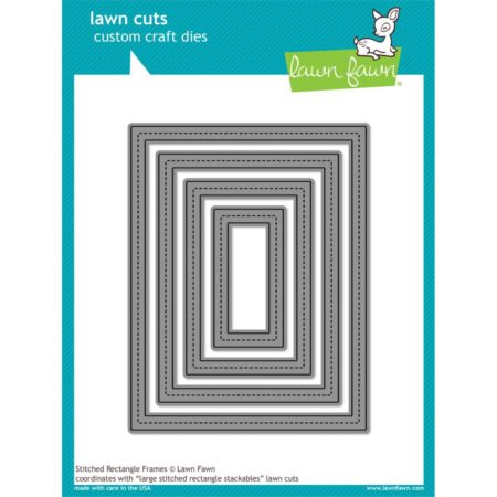 Lawn Fawn – Stitched Rectangle Frames - LF1142