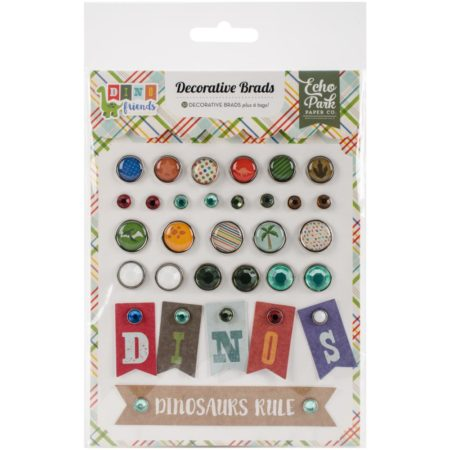 Echo Park paper Dino Friends Decorative Brads - DF102020