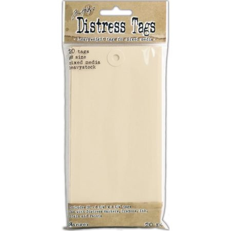 Tim Holtz Distress Mixed Media Heavystock Tags #8 20/Pkg TDA53828