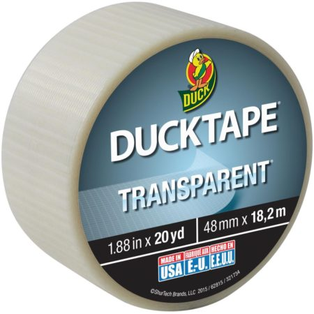 "Transparent Duck Tape 1.88""X20yd"