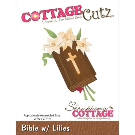 Cottage Cutz - Dies - Bible W/Lilies - CC-048