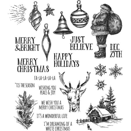 Tim Holtz - Cling Stamps set - Holiday Drawings