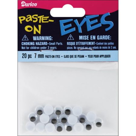 Paste-On - Wiggle Eyes 7 mm 20 stk. - ME7/PP