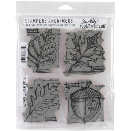 Tim Holtz – Cling Stamps set – Autumn Blueprint CMS133
